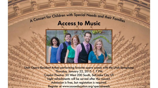 Access to Music: A Concert for Children with Special Needs and their Families